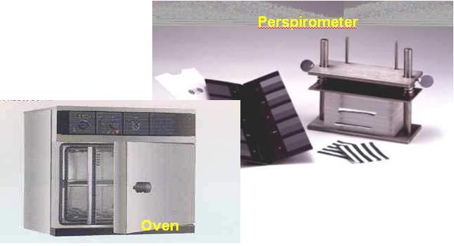 perspirometer, oven
