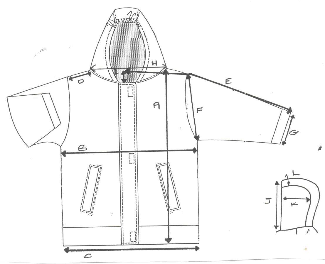 measurements for jacket