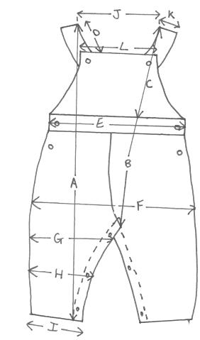 measurement of Dungaree
