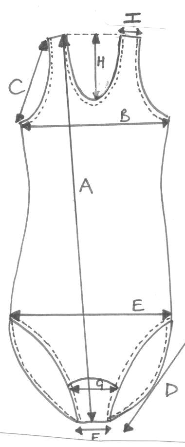measurements of  swimsuit