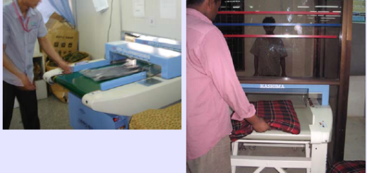 robot use in garment metal detection