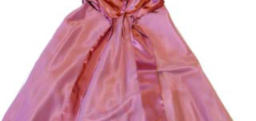 Dress sash tied at waist area