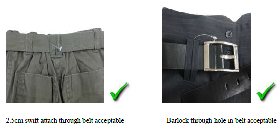 BAR-LOCKS & CABLE TIES USE IN GARMENTS