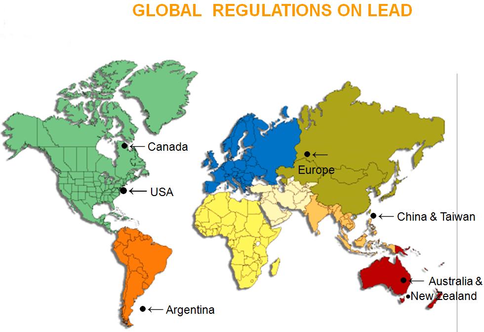 global regulations on lead