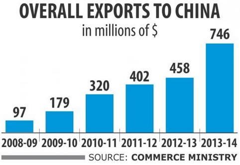 Overall garments exports to china